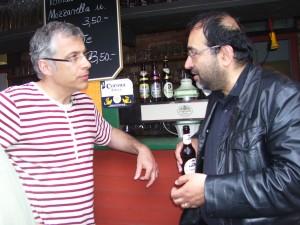Omid Nouripour, MdB und Mitglied des Verteidigungsausschusses im Gespräch mit OV-sprecher Jörg Lüdemann