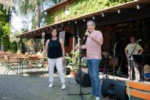 Begrüßung der Gäste durch Iris Schimpf-Reeg für den KV und Dr. Jörg Lüdemann für den OV